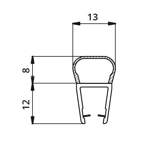 Garnitura ultraclara tip A(balon) cabina dus sticla 8 mm 1