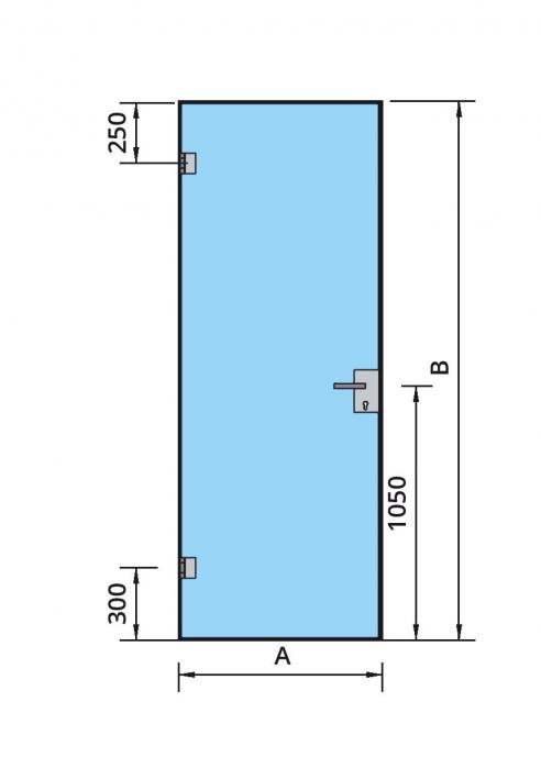 Set AT 23 inclusiv feronerie usa sticla 8-10 mm 2