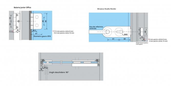 Set AT 23 inclusiv feronerie usa sticla 8-10 mm 3
