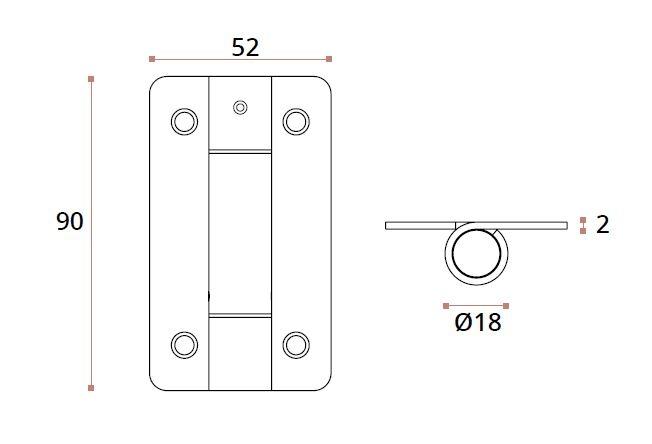 Balama usa sticla/HPL 10-13 mm compartimentare toaleta 1